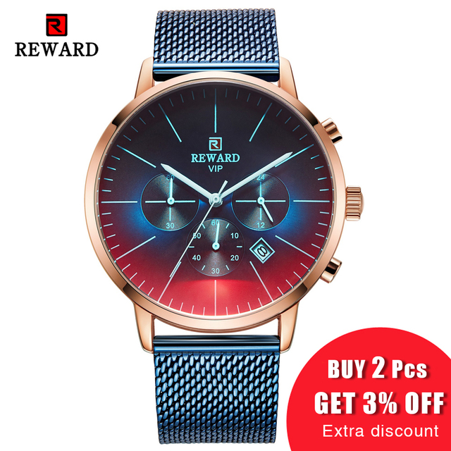 New Fashion Color Bright Glass Luxury Brand Stainless Steel Business Wrist Watch 1