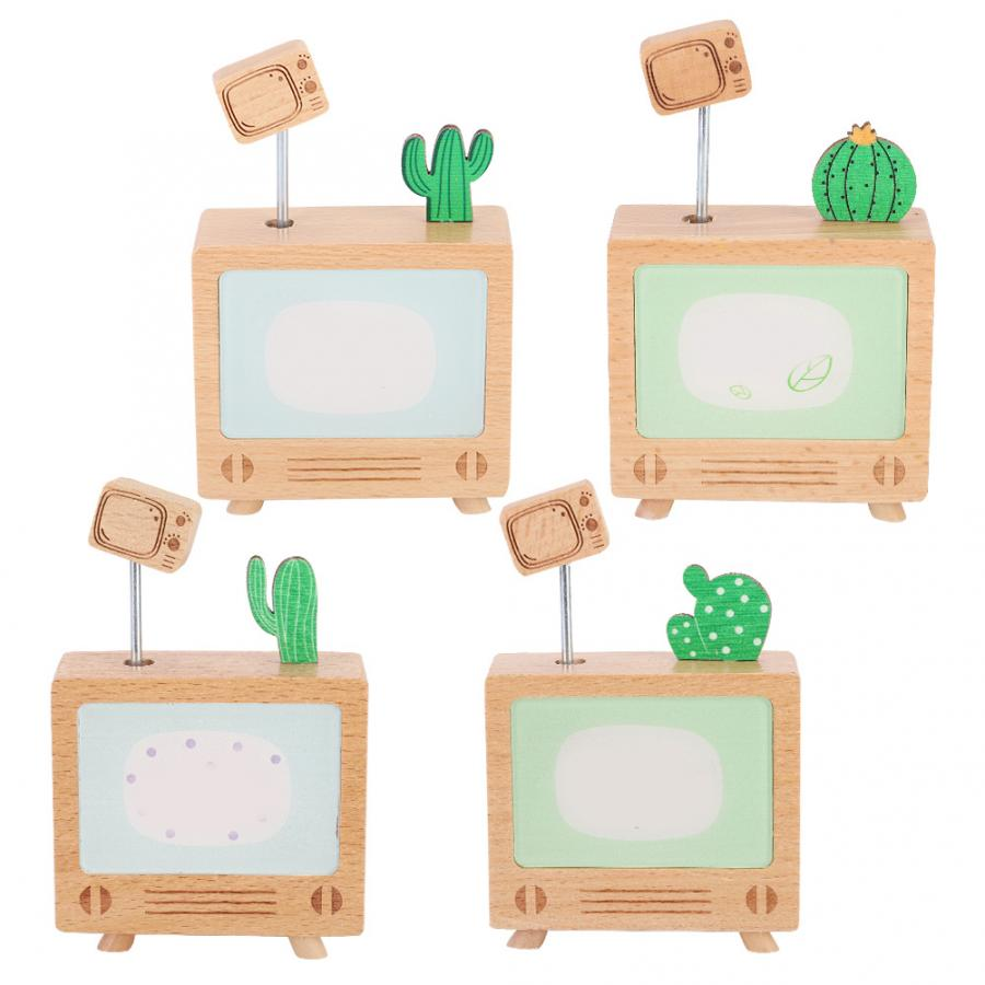 Permalink to Music Boxes Beech Wood Music Box Cactus TV Shape Musical Box Art Crafts Birthday Gift wooden