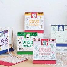Мультяшный настольный мини-календарь, креативный мультяшный маленький календарь с животным, планирующий, офисные школьные принадлежности, Канцтовары
