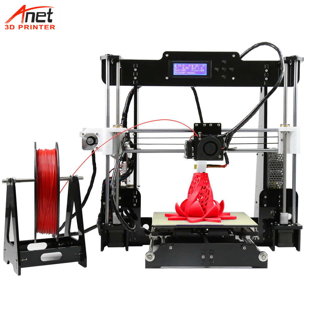 Anet A8 3D Printer Dual Z Motor Reprap Prusa i3 3D Printer Kit DIY Impresora 3D With Marlin Open Source