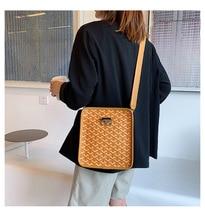 New Cyber Celebrity Ins Hot Stripes Flap Retro Lady Elegant Shoulder Bag