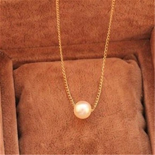 European and American Fashion New Hot Jewelry Freshwater Pearl Pendant Necklace Big pearl Necklace Retail and Wholesale цена и фото
