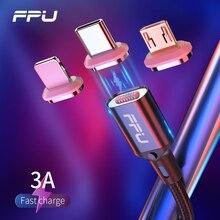 FPU Магнитный Micro USB кабель для iPhone samsung type-C Быстрая зарядка Магнитный кабель зарядное устройство адаптер usb type C кабели для мобильных телефонов