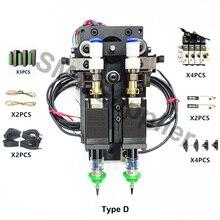 SMT DIY 더블 헤드 마운터 커넥터 Nema8 중공 축 스테퍼 픽업 플레이스 머신 용 더블 헤드 SMT 마운팅 헤드
