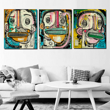 Joachimes Graffiti Street Art Prepaid Prankster Abstract Canvas Poster Painting All Picture Print Living Room Bedroom Decoration image