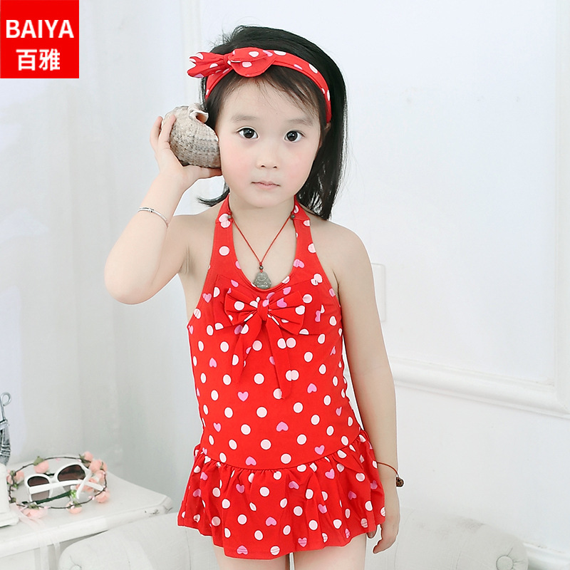 15-60 Jin Big Boy One-piece Swimming Suit Infants Triangle Underpants With Hair Band CHILDREN'S Swimsuit Nt171903