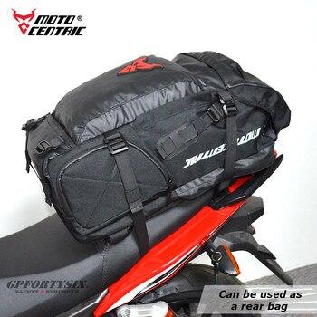 Waterproof Motorcycle Tail Bag Multifunction Durable Motorcycle Rear Seat Bag Super Capacity Moto Cycling Travel Helmet Backpack