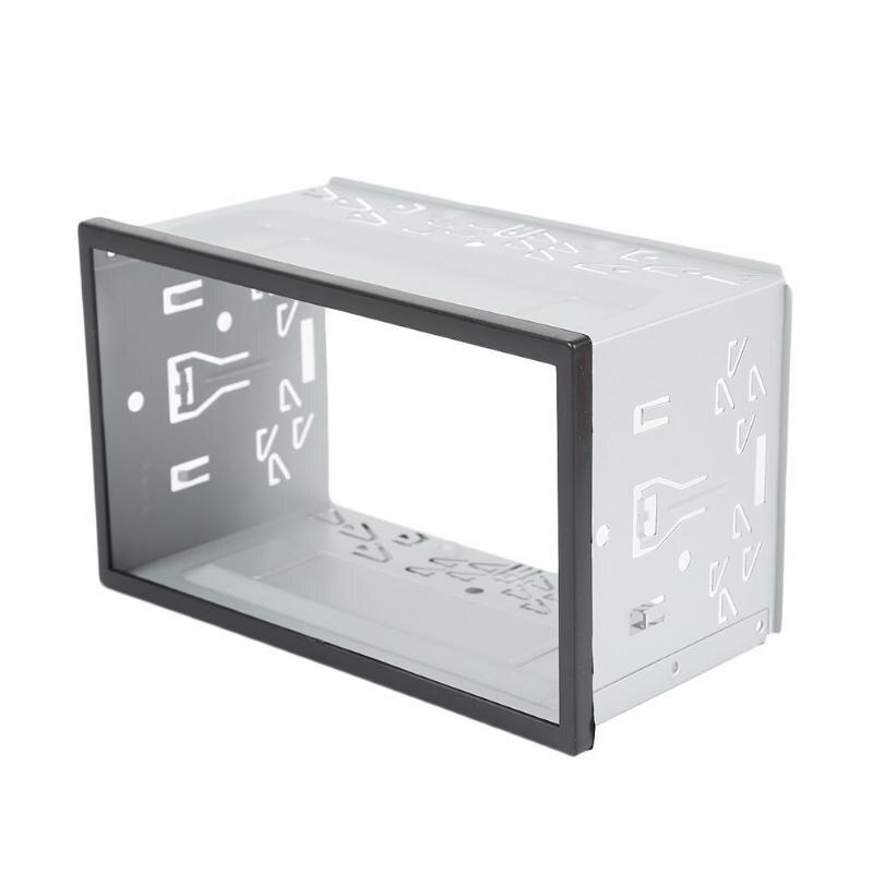 2 딘 자동차 라디오 dvd 플레이어 철 플라스틱 고정 범용 유형 실용적인 마운트 프레임 설치 베젤 패널 트림 키트 fascias