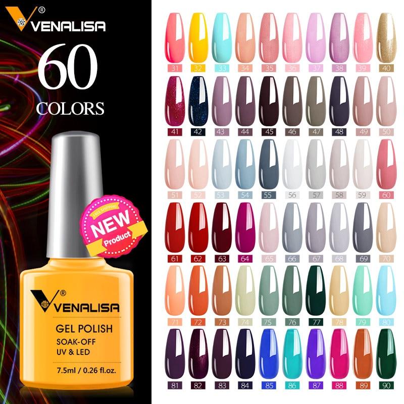 VENALISA Nail Polish Varnish New arrivals 60 colors summer neon colors nail gel polish set canni gel manicure soak off uv gel(China)