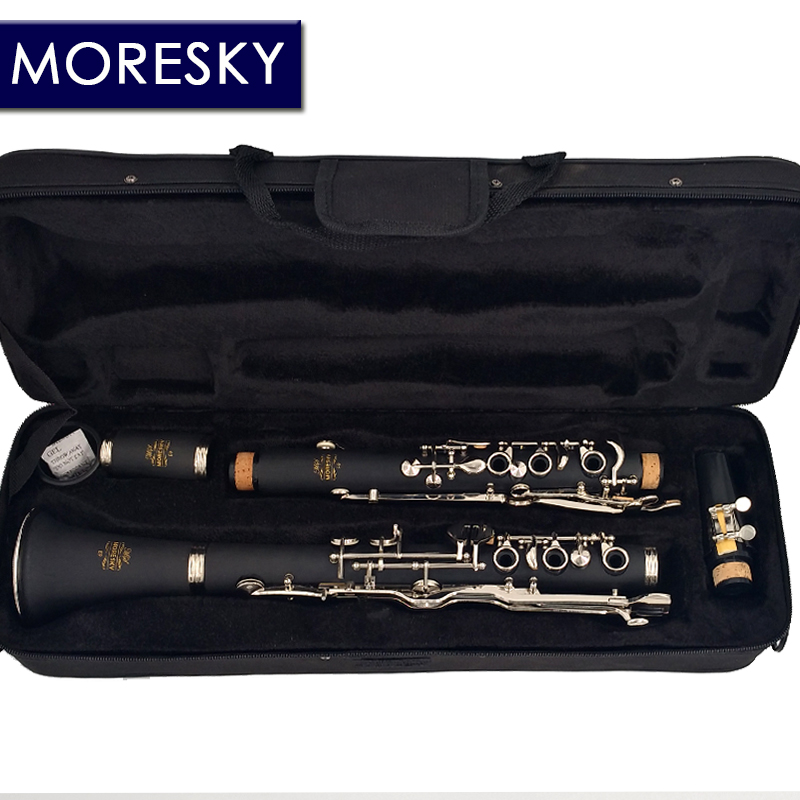 MORESKY German G Tune 20 Key Clarinet ABS Resin Boy Material Nickel Plated keys title=