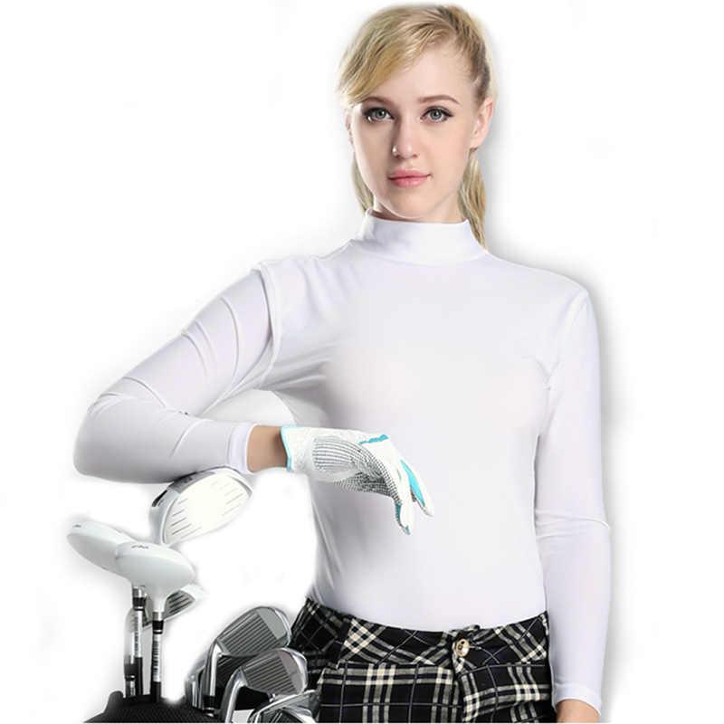 Camisa esportiva pgm mulheres correndo roupas de verão roupa interior golfe protetor solar uv gelo t-shirts manga longa roupas de golfe vestuário
