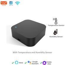 Tuya WiFi inteligente Universal IR Control remoto de Sensor de temperatura y humedad para casa inteligente soporte de automatización Alexa de Google