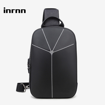 inrnn Multifunction Men Anti-theft Chest Bag Hard Shell Male Shoulder Bags Waterproof Outdoor Sling Messenger Bag Man Chest Pack