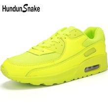 Hundunsnake Yellow Sneakers Male Air Cushion Men Running Shoes Sports Shoes Womens Sport Shoes Men 2018 Jogging Krasovki T205