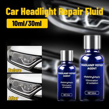 New 10ML/30ML Car Headlights Liquid Repair Agent Ceramic Coat Super Hydrophobic Glass Polishing Coating Liquid Repair Tool Set 10ml 30ml 9h hardness car headlights care repair agent ceramic coat super hydrophobic glass polishing coating liquid repair tool