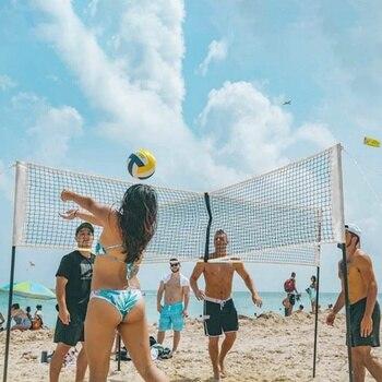 PE Quad voleibol red portátil Quad Cross Beach multipropósito Red en forma de cruz interior pelota de voleibol de Exteriores Net equipo deportivo