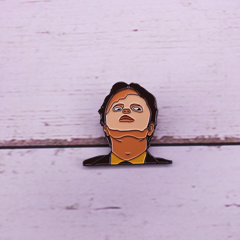 Dwight Schrute Mask Enamel Pin Rainn Wilson Pin