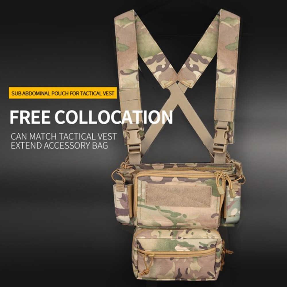 Taktyczne Drop Down AMMO magazyn narzędzie brzuch etui MOLLE talia wojskowy Airsoft Paintball dla TMC LBT JPC MK3 kamizelka skrzynia Rig