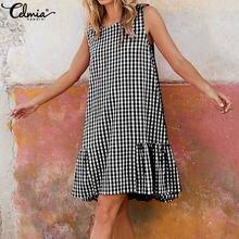 Женская обувь в винтажном стиле; Летнее клетчатое платье 2021
