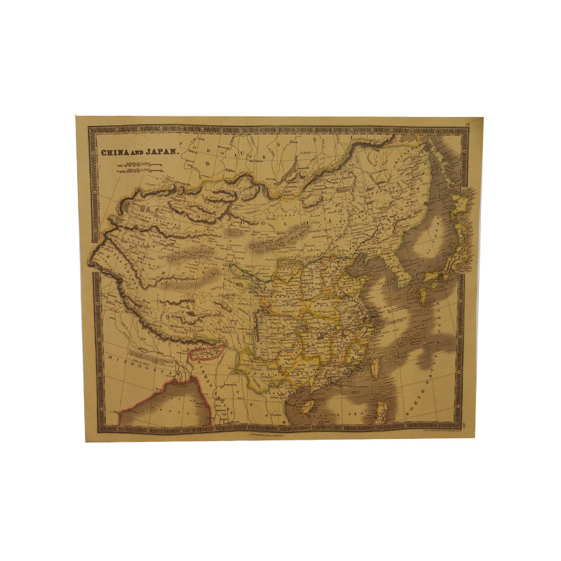 1pcs Kraft Paper Retro Poster Map 63.5*51.5cm Potter Wall Maps Of The World Map Student Stationery School Stylistic Atlas