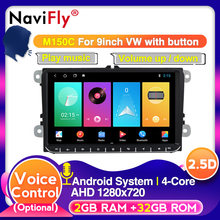 NaviFly Android 9 Controllo Vocale per VW Skoda Octavia golf 5 6 touran passat B6 jetta polo tiguan Car Multimedia navigatore GPS(China)