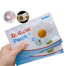 цена на 12pcs/2bags Diabetic Patches Control Blood Sugar Lower Blood Glucose Natural Herbs Health Care China Plasters Loose Weight
