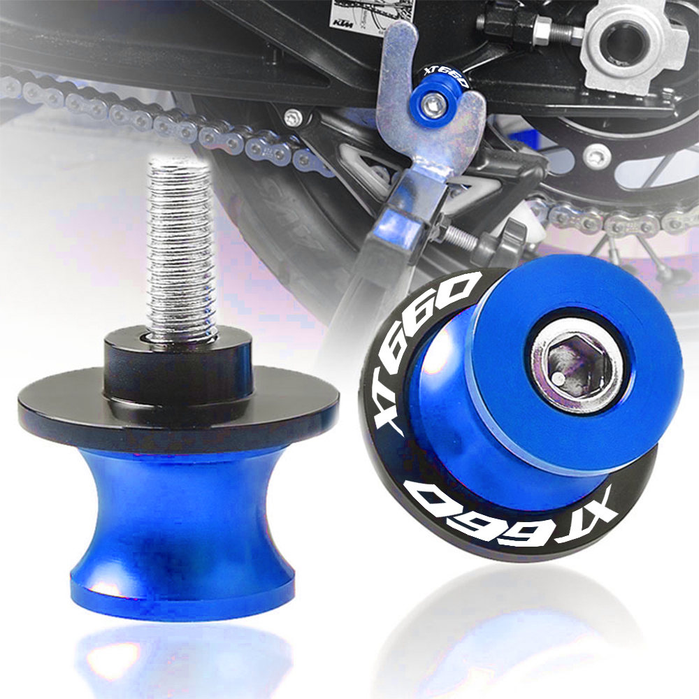 Para yamaha xt 660 xt660 x r z 2004-2017 2016 2015 acessórios da motocicleta cnc de alumínio 6mm swingarm spool slider suporte parafusos m6