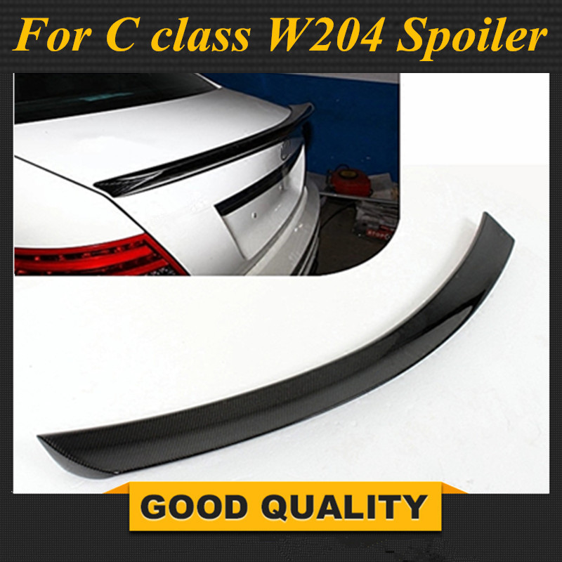 <font><b>Mercedes</b></font> W204 Carbon Fiber Spoiler for C Class 2 door <font><b>Coupe</b></font> Rear Wing <font><b>C300</b></font> 2007-2014 image