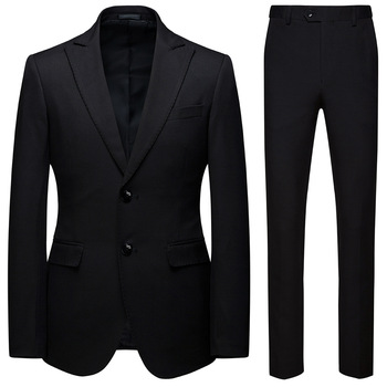 Men Business Suit matching outfits Casual Suit Boys Plus Size Black Men Suits Blazer and Pants Party Wear 5xl 6xl two Piece Set
