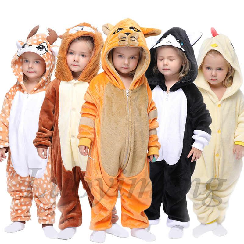 Kigurumi ילדים של פיג 'מה בני בנות Unicorn פיג' מה פלנל ילדי תפר פיג 'מות חליפת בעלי החיים הלבשת חורף חתול Onesies