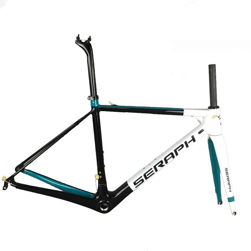 Seraph Desgin Paint BSA Road Bike Frame 100*130mm QR BB30 T1000 Carbon Fiber Bicycle Frame FM066