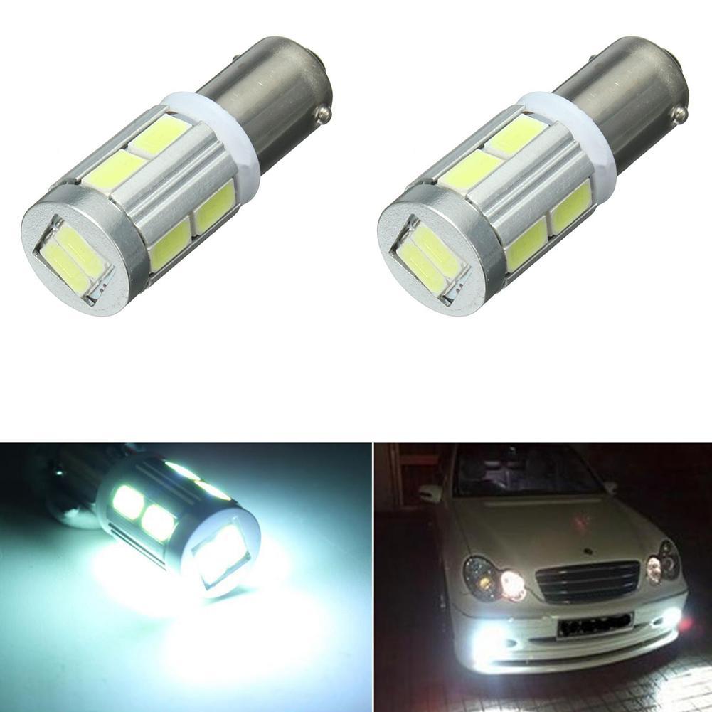 Car Lights 2Pcs Universal BA9S 10SMD LED Car Sidelight Mini Bulbs License Plate Dome Lights Car Headlight Bulbs