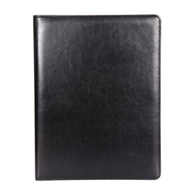 A4 Clipboard Multi-Function Filling Products Folder For Documents School Office Supplies Organizer Leather Portfolio,Black 2 Pcs