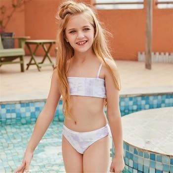 Lila Mädchen Bikini 4-14 Jahre Kinder Strand Bademode 1