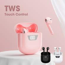 Pink Headphones Earbuds Gamming I12 I9000 I7 Wireless Bluetooth Sound Handsfree Stereo