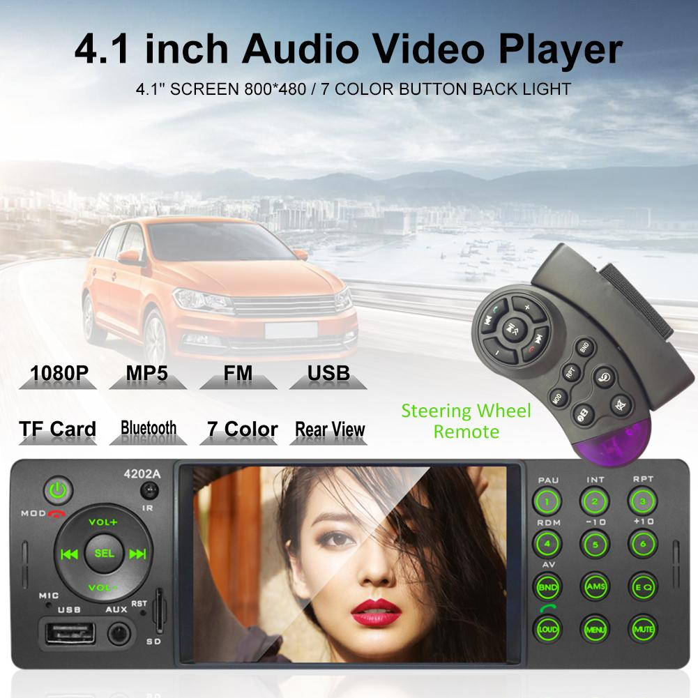 Car Stereo 4 Inch Auto Radio 4202A Bluetooth Autoradio <font><b>USB</b></font> SD Aux FM <font><b>Receiver</b></font> Handsfree In-dash HD MP5 Video Player With Camera image