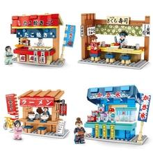 2020 City Creator Mini Street View negozio di Barbecue negozio di Sushi negozio di ghiaccio rasato museo di Ramen blocchi di costruzione giocattoli di mattoni