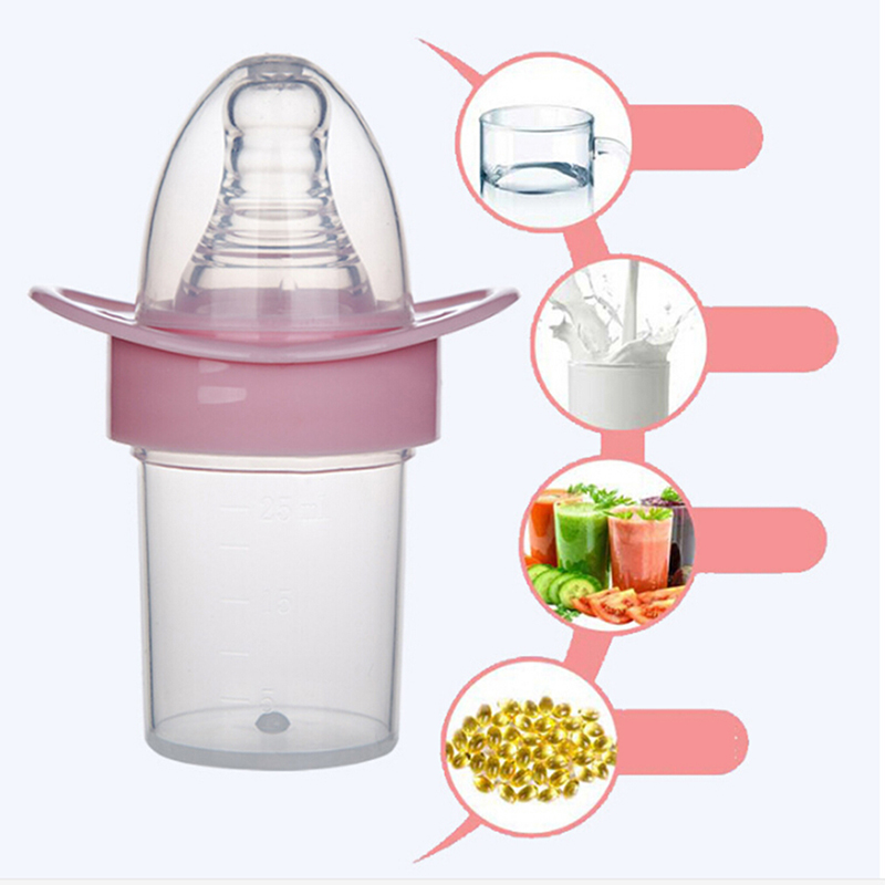 3 Colors Toddler Baby Medicine Feeding Bottles Infant Kids Feeding Dummy Pacifier Nipple Necessary Kid Utensils Tool