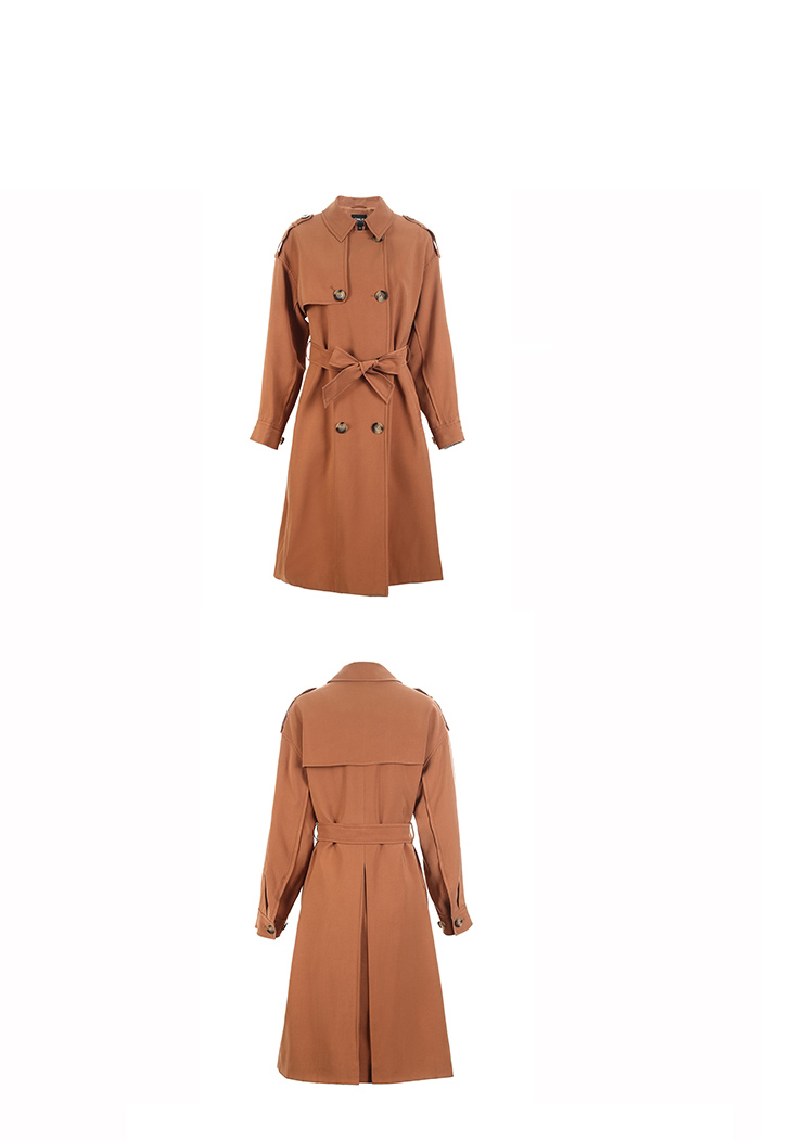 ONLY 19 Women's Loose Fit Long Wind Coat |119136568 17