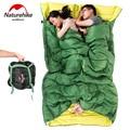 Двойной спальный мешок для взрослых 2 человек емкость конверт Typle весна и осень спальные мешки с полым хлопком