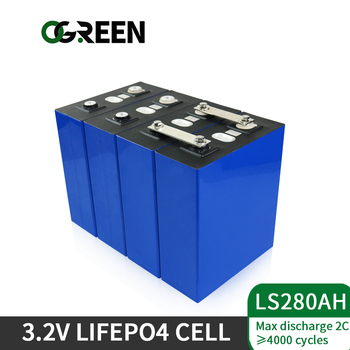 Ogreen 16pcs 280AH lifepo4 battery packs 12V 24V 36V 48V 280AH  grade A prismatic Lithium Iron Phosphate cell US EU TAX FREE