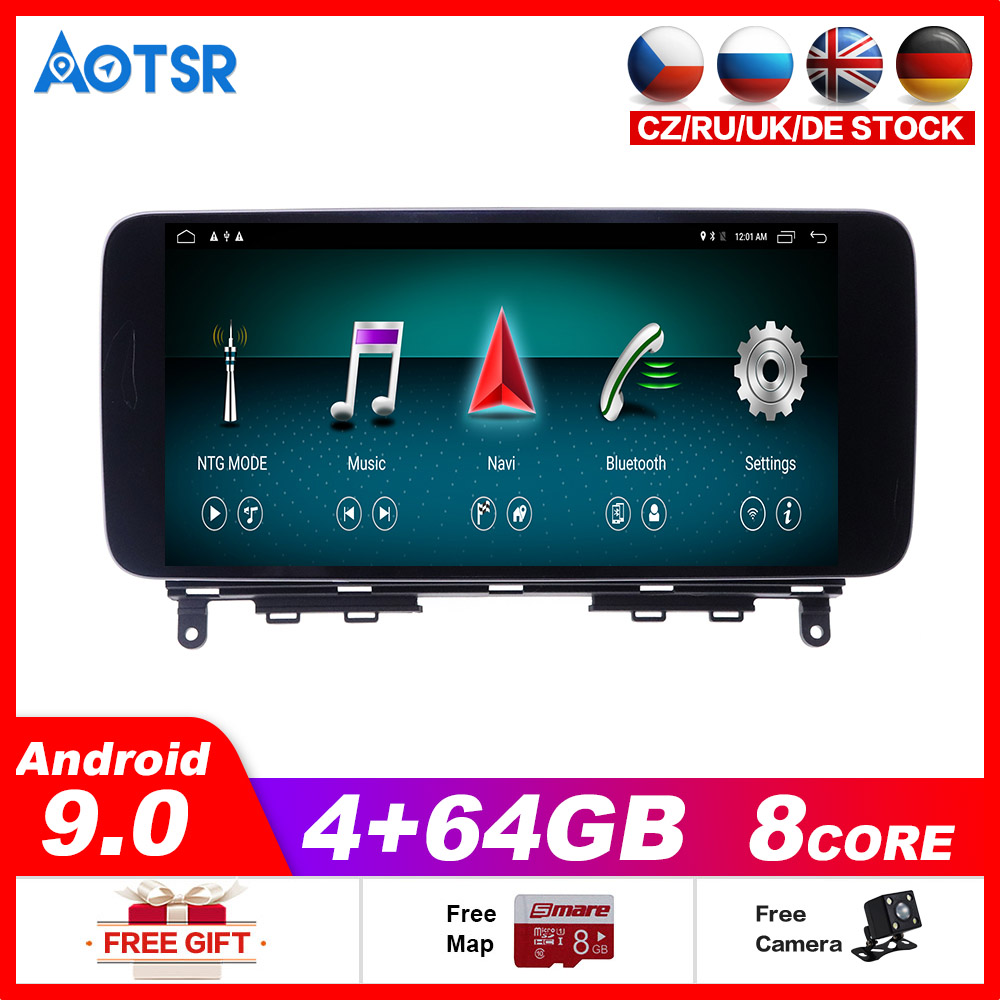 4+64G Android9 car dvd player for Mercedes Benz C Class <font><b>W204</b></font> 2010-2014 Car <font><b>Radio</b></font> Screen <font><b>GPS</b></font> Navigation tape recorder multimedia image