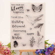 Butterfly and Bird Clear Stamps Seal for DIY Scrapbooking Card Rubber Stamps Making Album Photo Crafts Handmade Decor New Stamps new scrapbook diy photo album cards butterfly style transparent acrylic silicone rubber clear stamps sheet handmade craft decor