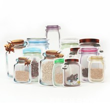 Buy Wholesale 14 Pieces Mason Jar Valve Bags Reusable Snack Saver Bag Leakproof Food Home Storage Organizer Bags for Travel Kids directly from merchant!