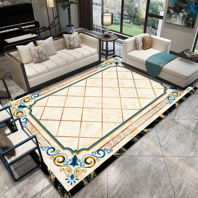 Marbre Style tapis nordiques pour salon maison chambre tapis canapé Table basse tapis de sol moderne Rectangle étude salle tapis tapis