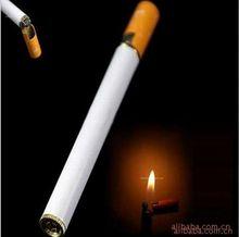 Encendedor de llama de Gas butano recargable para hombre, encendedor de llama a chorro en forma de cigarro a prueba de viento, 2020