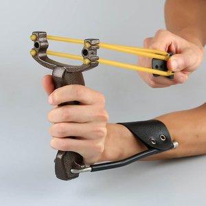 Image 5 - למבוגרים עוצמה יעד ירי הקלע עם מתקפל יד בליסטרא מקצועי האנטר ציד דיג קלע Shot