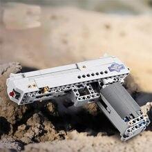 Bloques de construcción de pistola militar de Águila del desierto, juguete de piezas de bloques de la 2. ª Guerra Mundial, para policía de ciudad, swat, MK23, Uzi, C81007