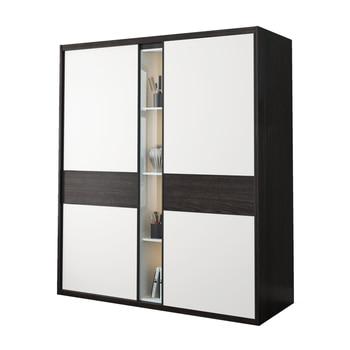Wardrobe storage large capacity fashion wardrobe double hanging assembly cabinet reinforcement folding wooden closet furniture