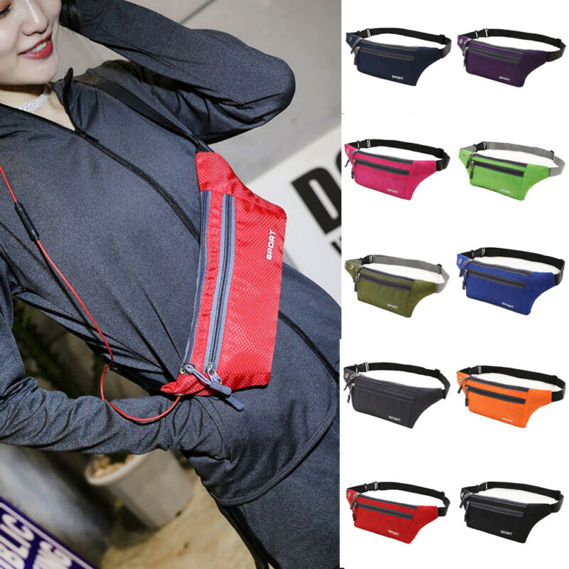 Men Women Sport Waist Pack Fanny Pack Crossbody Wallet Belt Travel Phone Bag New
